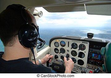 treinamento, piloto