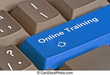 treinamento, quentes, tecla