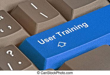 treinamento, usuário, tecla