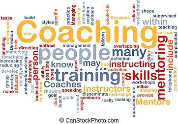 treinar, conceito, fundo