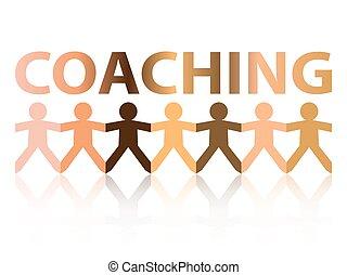 treinar, povos papel