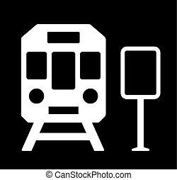 treine estação, sinal
