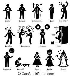 trekken, karakter, menselijk