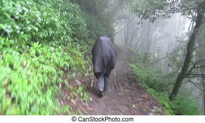 trekker, dżungla, hiking, płaszcz nieprzemakalny