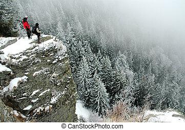 trekkers, winter, top