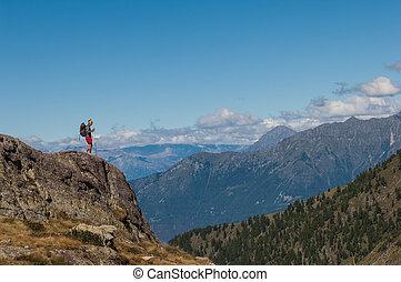 trekking in the mountain