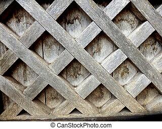 Trellis Design on Medieval Door