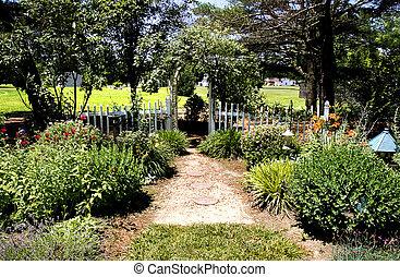 Trellis in Garden