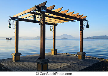 Trellis on the shore of Taal Lake