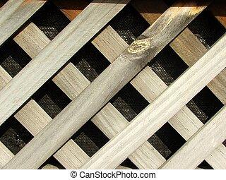trellis - section of wooden trellis
