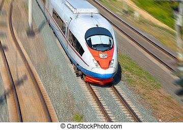 trem alta velocidade, movimento