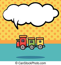 trem brinquedo, doodle