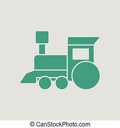trem, brinquedo, ico
