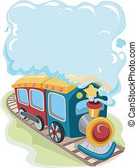 trem, brinquedo, locomotiva