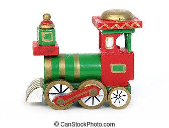 trem, brinquedo, natal