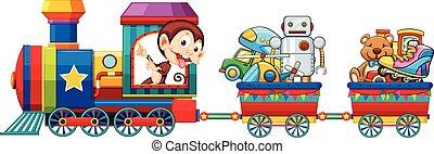 trem, brinquedos