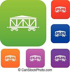 trem carga, jogo, cobrança, vagão