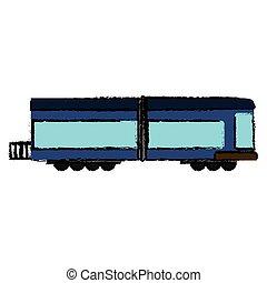 trem carga, locomotiva, transporte