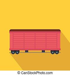 trem carga, vagão, apartamento