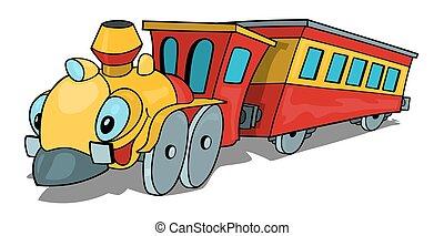 trem, caricatura