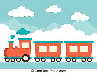 trem, carruagens