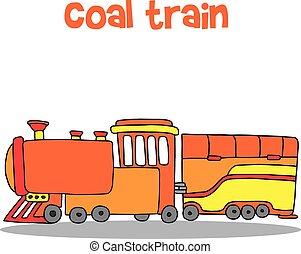 trem carvão, transporte, cobrança