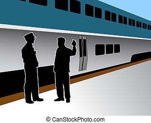 trem, condutor
