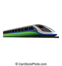 trem, desenho, rapidamente, ilustração