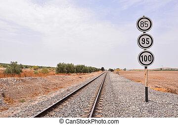 trem, estrada barra