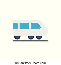 trem, expresso, fundo branco, ícone