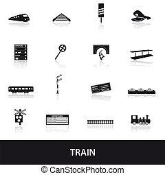 trem ferrovia, eps10, ícones