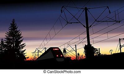 trem ferrovia, station.
