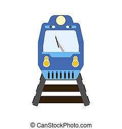 trem, ilustração, vetorial
