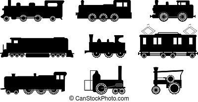 trem, ilustrações