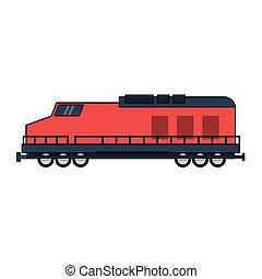 trem, isolado, veículo
