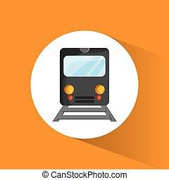 trem, locomotiva, passageiro, transporte