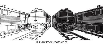 trem, locomotiva