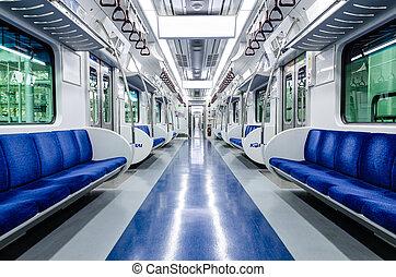 trem metrô, assento