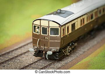 trem modelo, carruagem