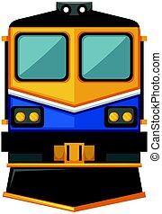 trem, modernos, desenho, fundo branco