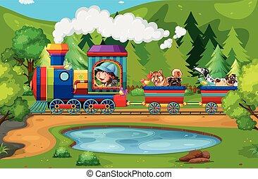 trem, natureza
