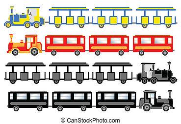 trem, para, sightseeing