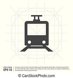 trem passageiro, ícone