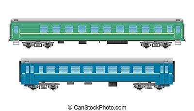 trem passageiro, jogo, carros