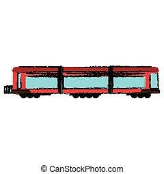 trem passageiro, locomotiva, transporte