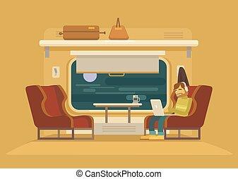 trem passageiro