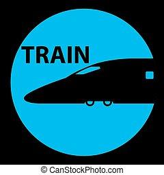 trem, símbolo, estação, sinais