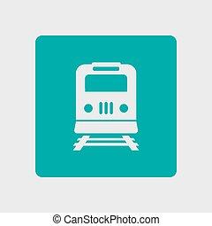 trem, símbolo., sinal