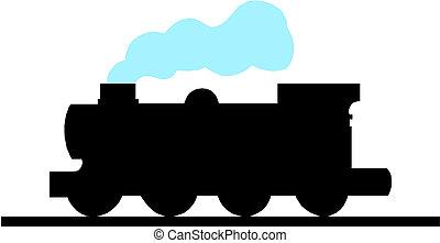 trem, silueta