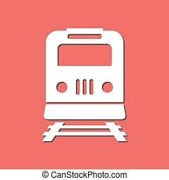 trem, sinal, símbolo.